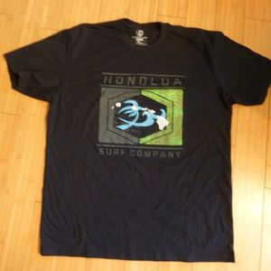 Honolua Hawaii surf gear black tee shirt  xl unisx